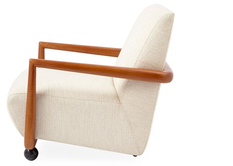 White St Germain Club Chair by Jonathan Adler