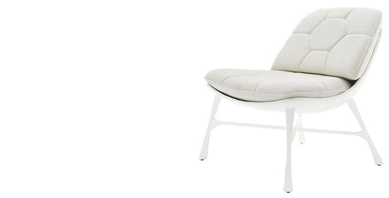 Bordeaux White Chair by CB2