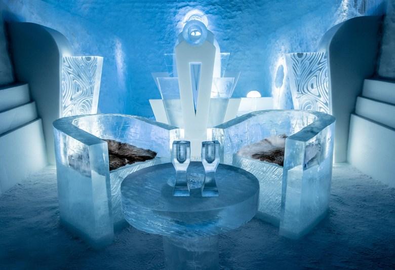 ICEHOTEL 365 SWEDEN – Jukkasjärvi, Sweden - ice chairs