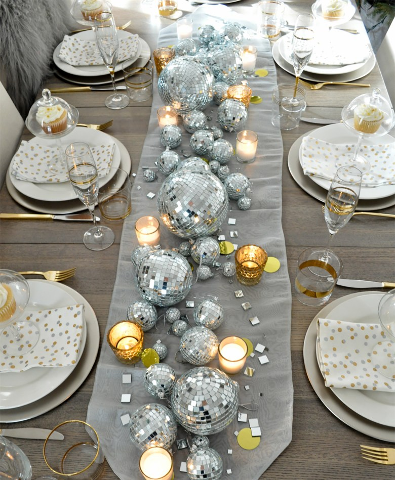 New Years Eve Table by Life is a Party - Silver and gold