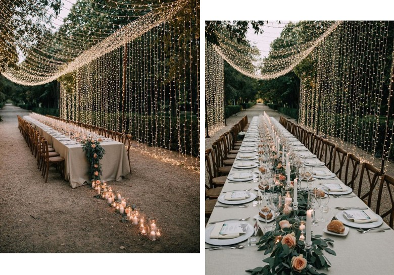New Years tablescape lights by 100 Layer Cake