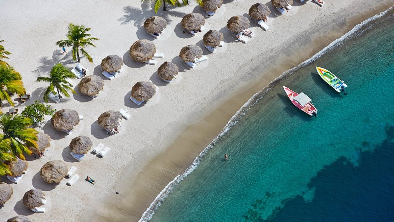 Viceroy Sugar Beach St. Lucia - Boats and Cabanas