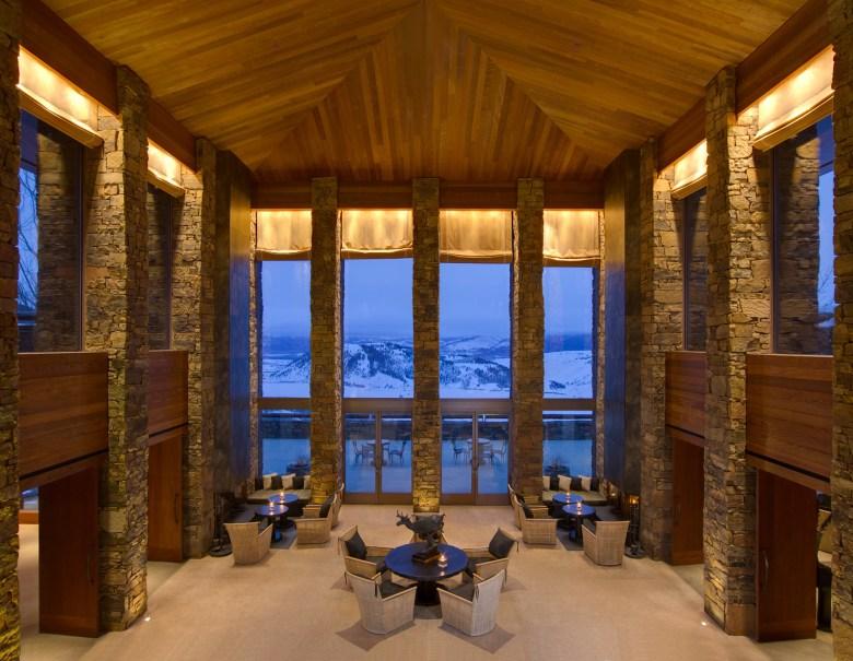 AMANGANI Lounge – Jackson Hole, Wyoming Mountain View