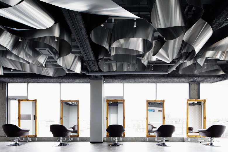 Modern Salon design Moriyuki Ochiai Architects