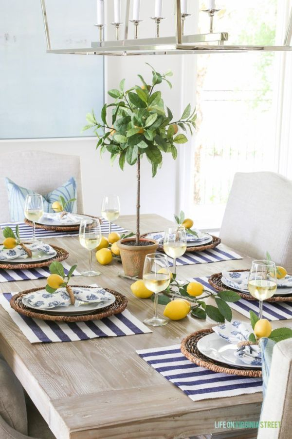 Lemon themed Spring Tablescape