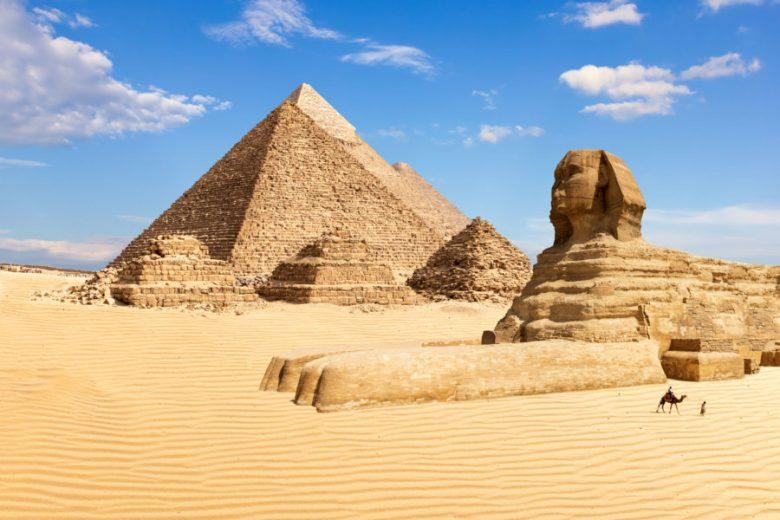 Pyramids at Giza excursion on Nile river cruise