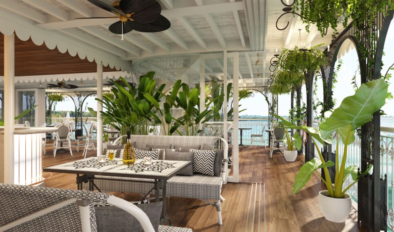 Relaxing lounge aboard a Vietnam river cruise