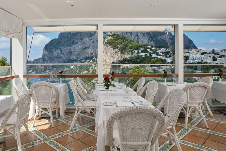Terrazza Brunella Capri Italy fine dining with a view
