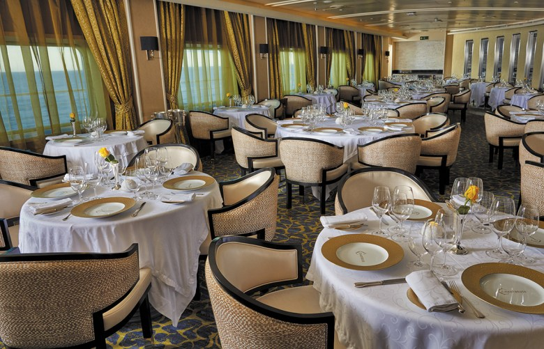 Chartreuse Restaurant on Regent Voyager Cruise