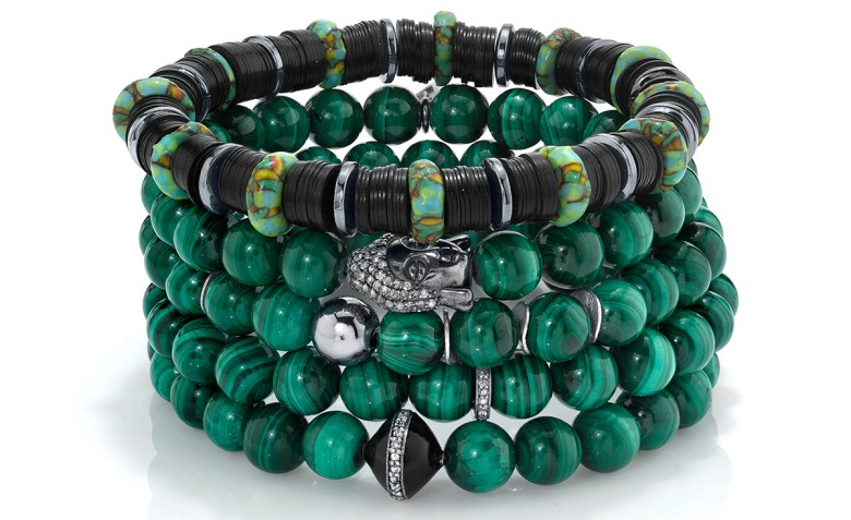 Mr. Lowe Green Stack Bracelets Sheryl Lowe Jewelry
