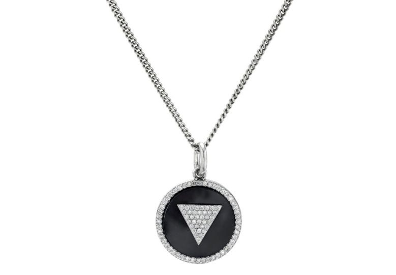Mr. Lowe ONYX INLAY PENDANT CHAIN NECKLACE Sheryl Lowe Jewelry