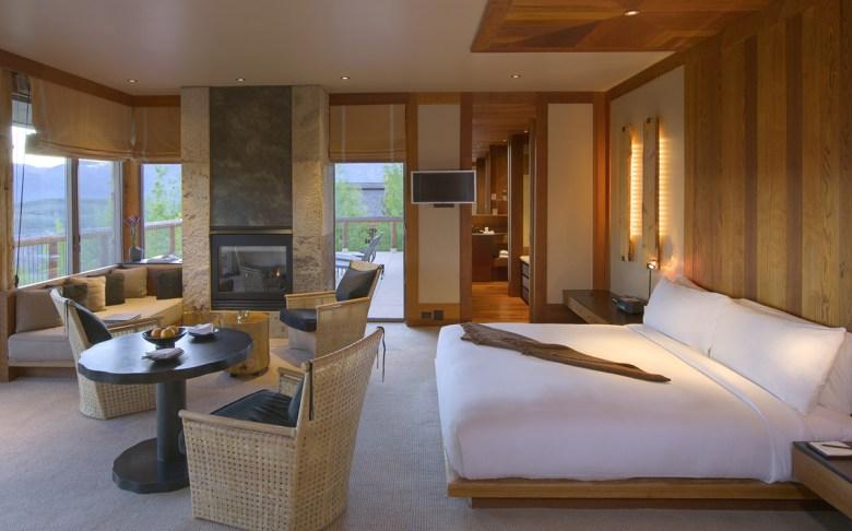 suite at the amangani Jackson hole