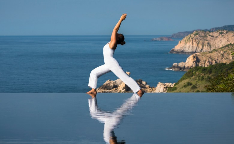 Amanoi, Vietnam - Yoga at Cliff Pool