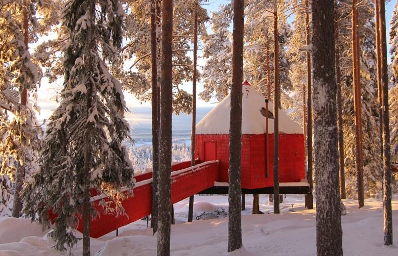 Blue Cone luxury treehouse hotel Sweden