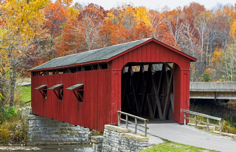 Cataract Falls covered bridge Indiana