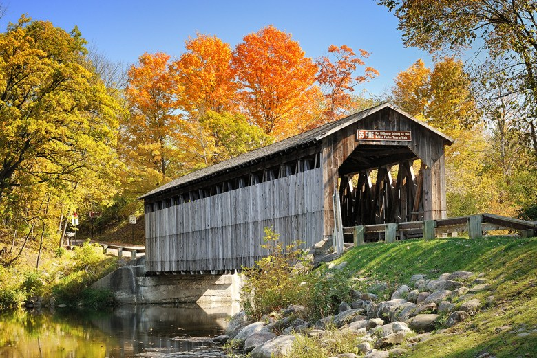 Fallsburg covered bridge Lowell Michigan