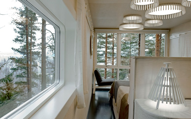 The Cabin treehouse hotel Sweden interior