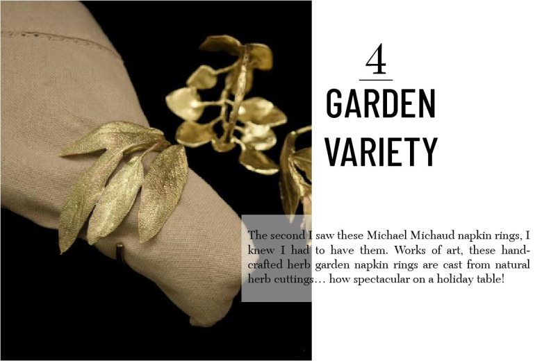 Michael Michaud napkin rings hostess gifts
