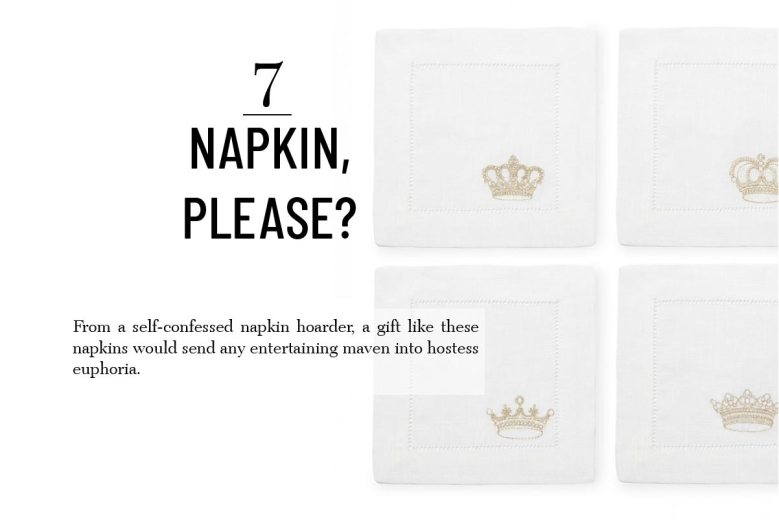 Sferra Royalty cocktail napkins best hostess gifts