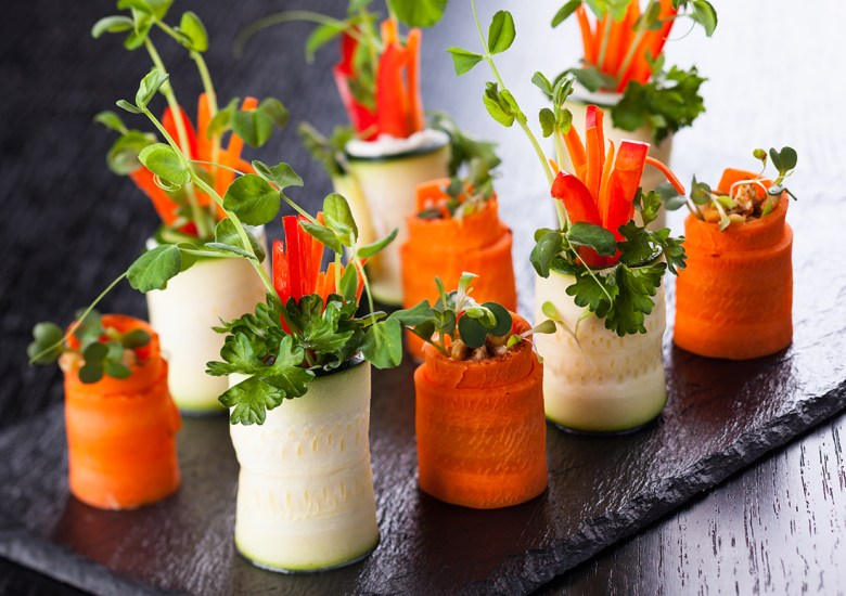 veggie roll up party appetizers