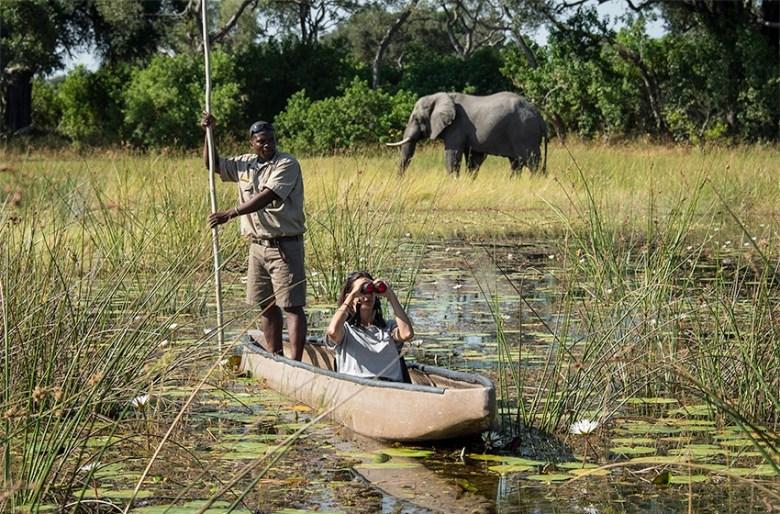 Botswana boat luxury african safari
