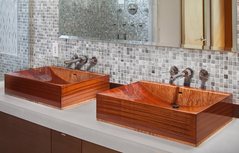 Wooden sink by NK Tubs