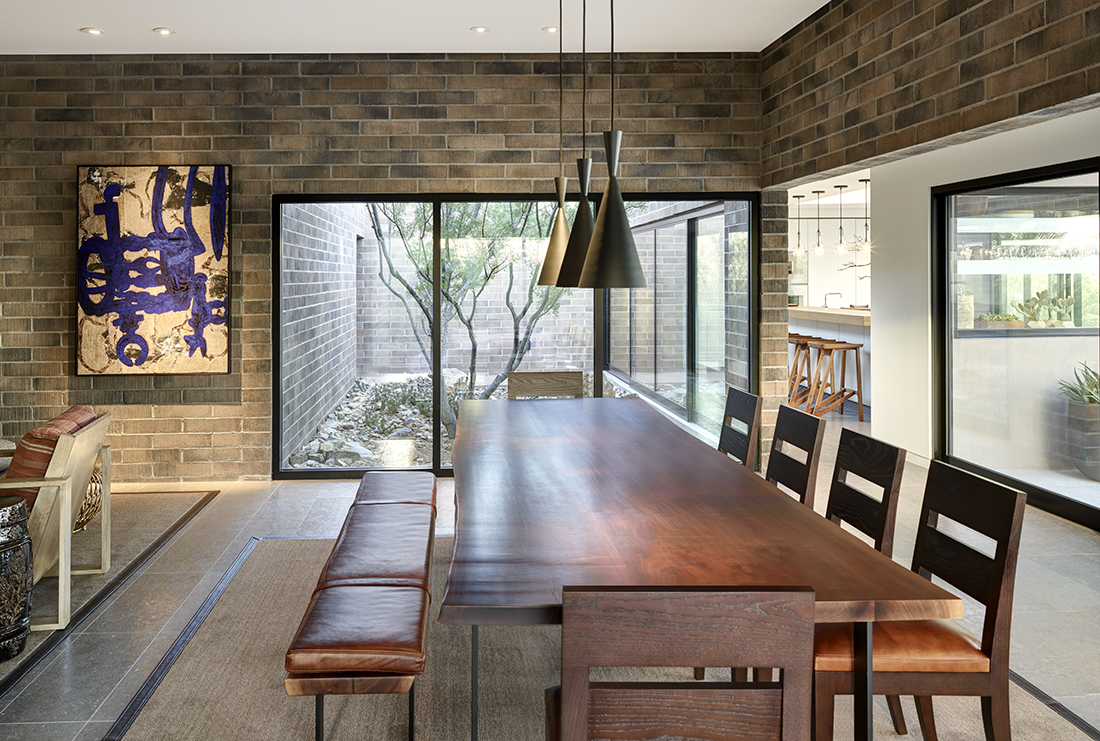 modern dining room by David Michael Miller