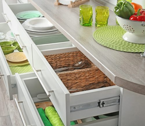 get organized at home in the kitchen