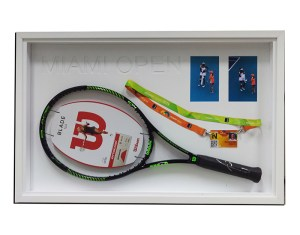 tennis racquet framed