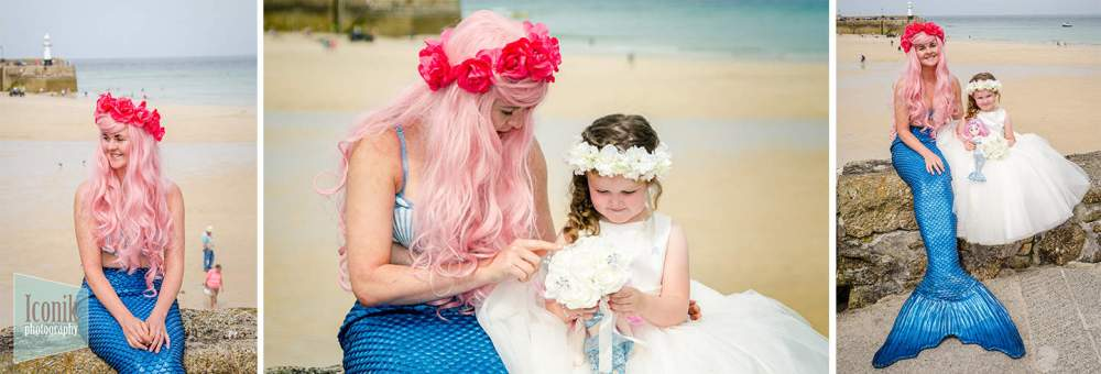 Wedding Photography in Cornwall - St Ives Mermaid