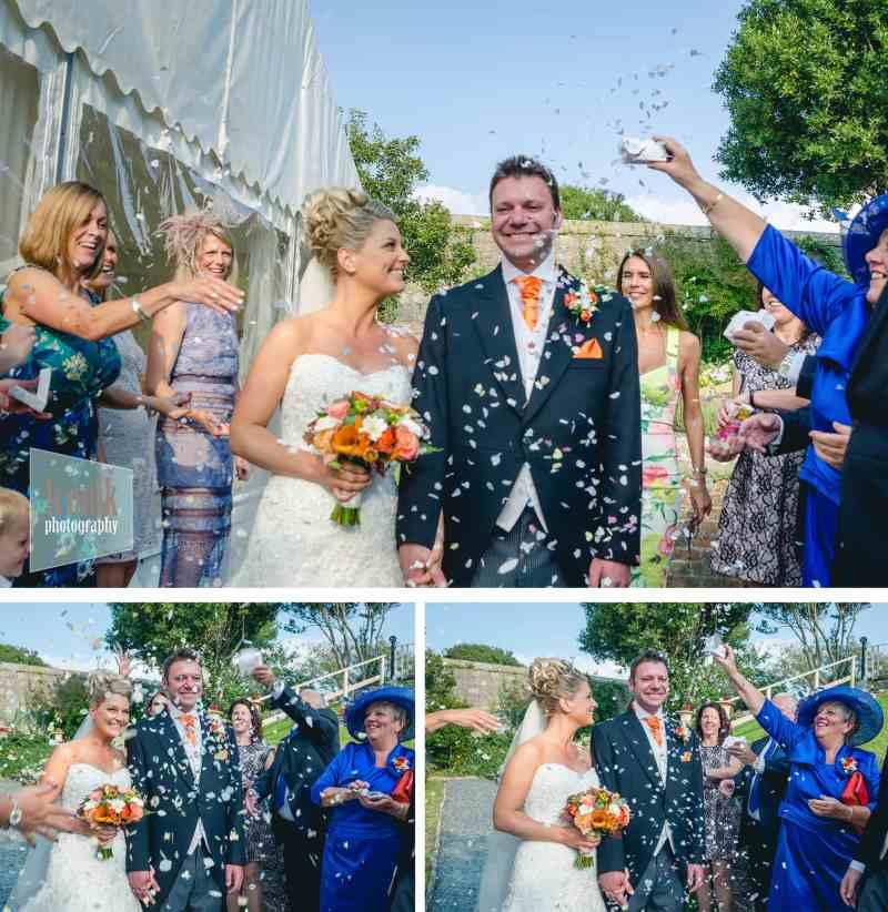 confetti shot wedding photography plymouth