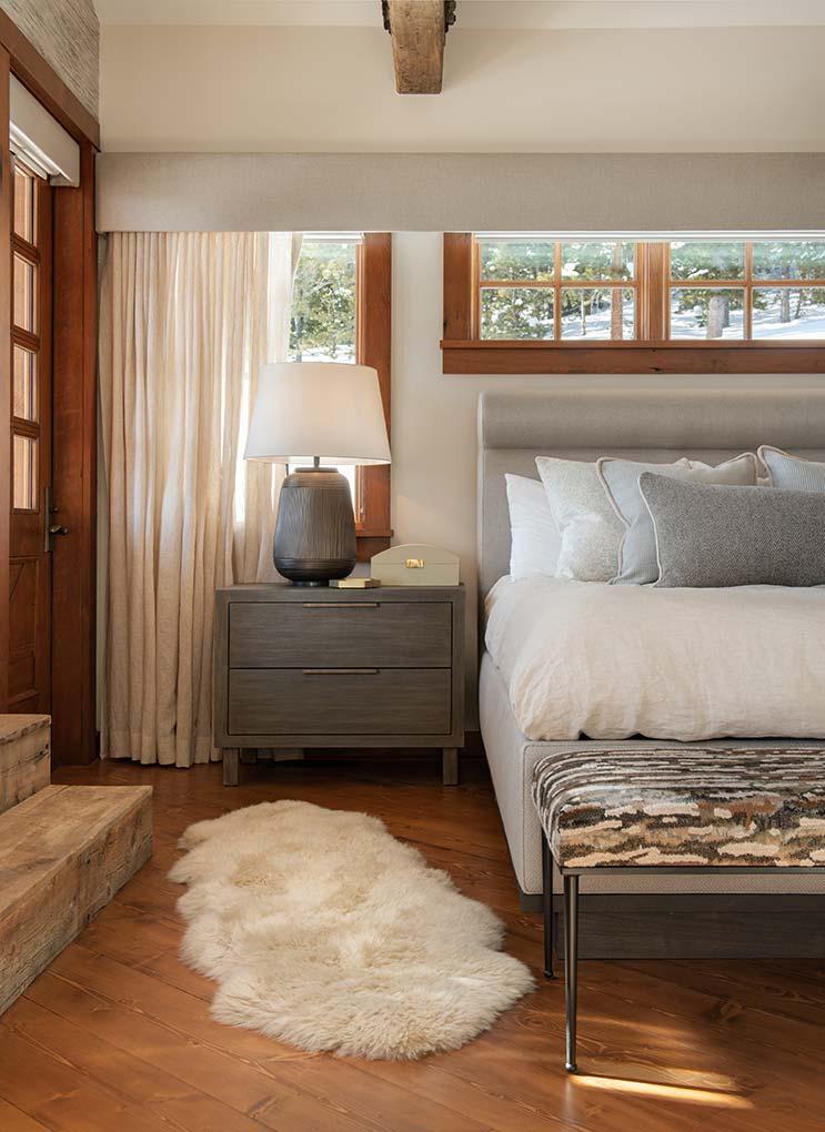 Well lit bedroom interior design