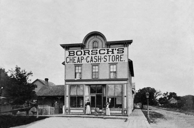 Photo of John Borsch's Store in Delano, Minnesota