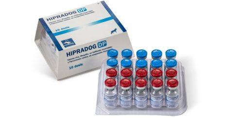 HIPRADOG DP Vacuna viva, Moquillo, en liofilizado inyectable; y Parvovirosis canina, en suspensión inyectable