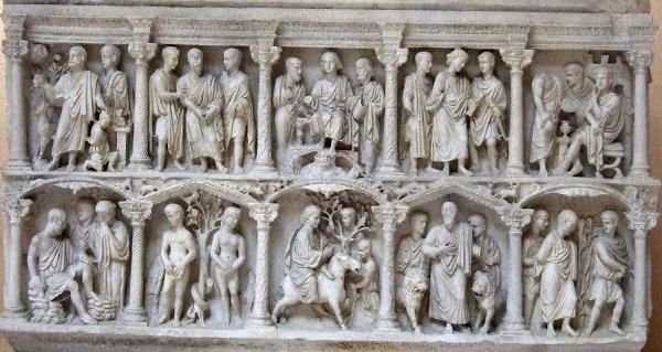 Sarcófago Junio Basso. Museo Pío cristiano. S. IV.