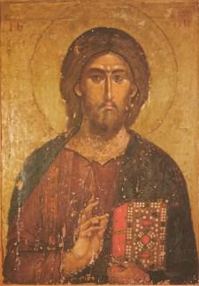 Jesucristo Pantocrator  El Salvador. Mon. Kilandari. Monte Athos