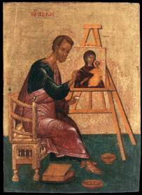 Según la Tradición S. Lucas fue quien hizo el primer retrato de la Virgen