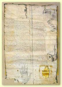 Edicto de protección de Mahoma al monasterio del Sinaí.jpg