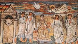 Basílica-de-Santa-María-Mayor.-La-Anunciación-mosaico-del-arco-triunfal-Roma.