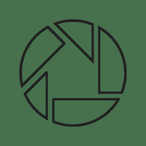 Internet Logo Picasa Technology Video Website Icon Social Media Logos I Linear Black