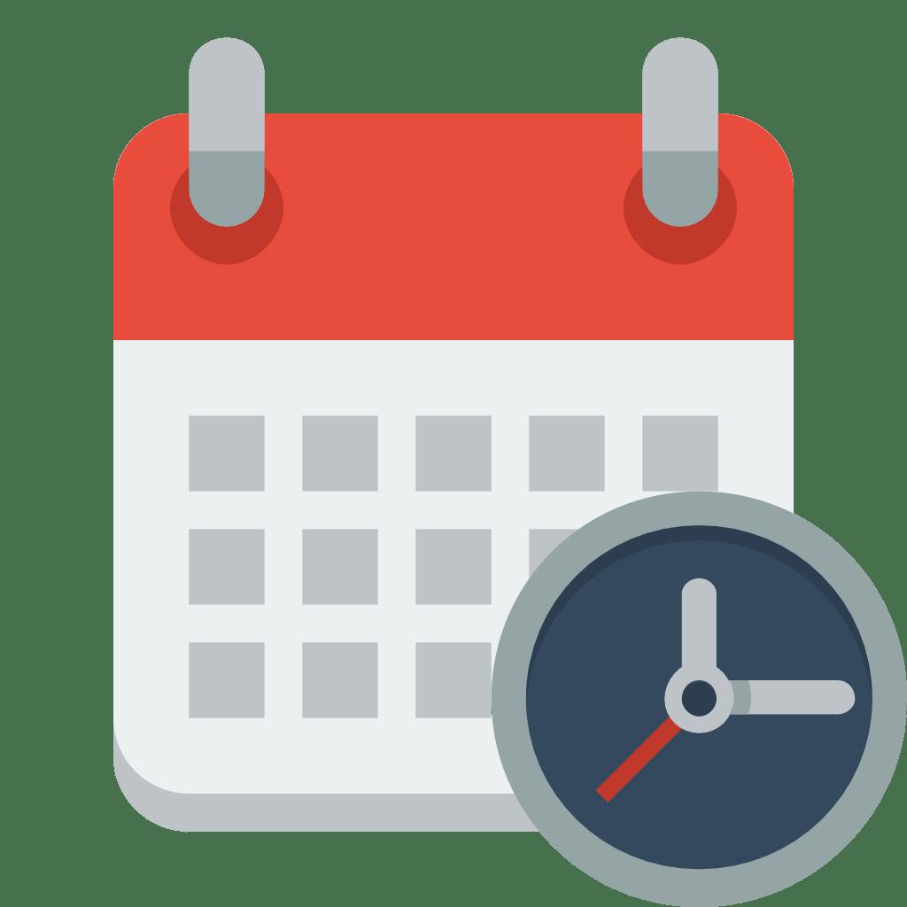 Calendar clock Icon   Small & Flat Iconset   paomedia