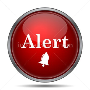 Alert icon. Alert internet button on white background. - icons4web