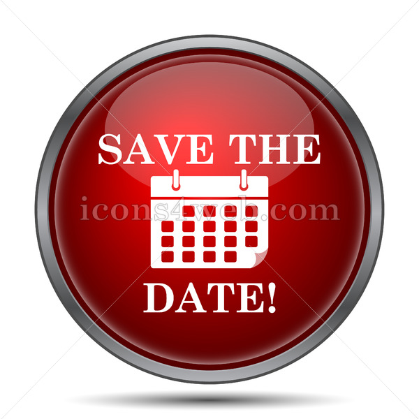 Save the date icon. Save the date website button on white background. - Icons for your website
