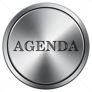 Agenda icon. Round icon imitating metal. - Buy Icons for your website