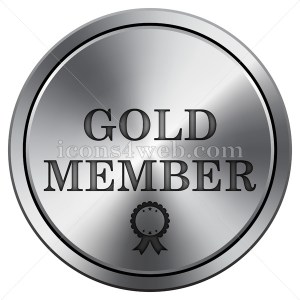 Gold member icon. Round icon imitating metal. - Icons for your website