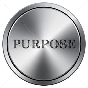 Purpose icon. Round icon imitating metal. - Icons for your website