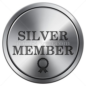 Silver member icon. Round icon imitating metal. - Icons for your website