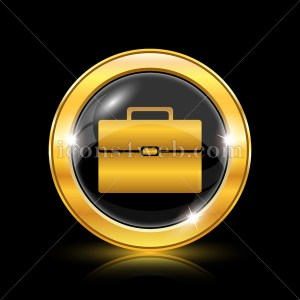 Business icon. Business button on black background - Icons for your website