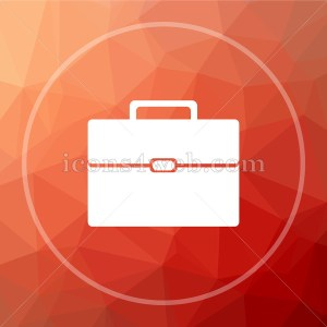 Briefcase icon. Business concept icon on low poly background. - Icons 4 web