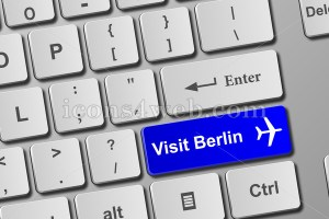 Visit Berlin keyboard button. Buy online tickets concept to visit Berlin. - Icons for your website
